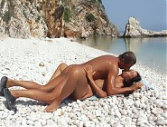 Nudist beach teens with their old men lovers