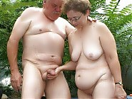 Nudist grannies posing naked outdoors