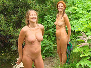 (10 pictures) Beautiful shameless ladies posing naked on the nature