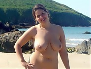 (7 pictures) Chubby female nudist taking a sun bath