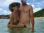 (4 pictures) Rule of conduc at nudist beach - no erection!
