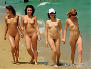 (5 pictures) Hot naked titties and pussies all over the nudist beach